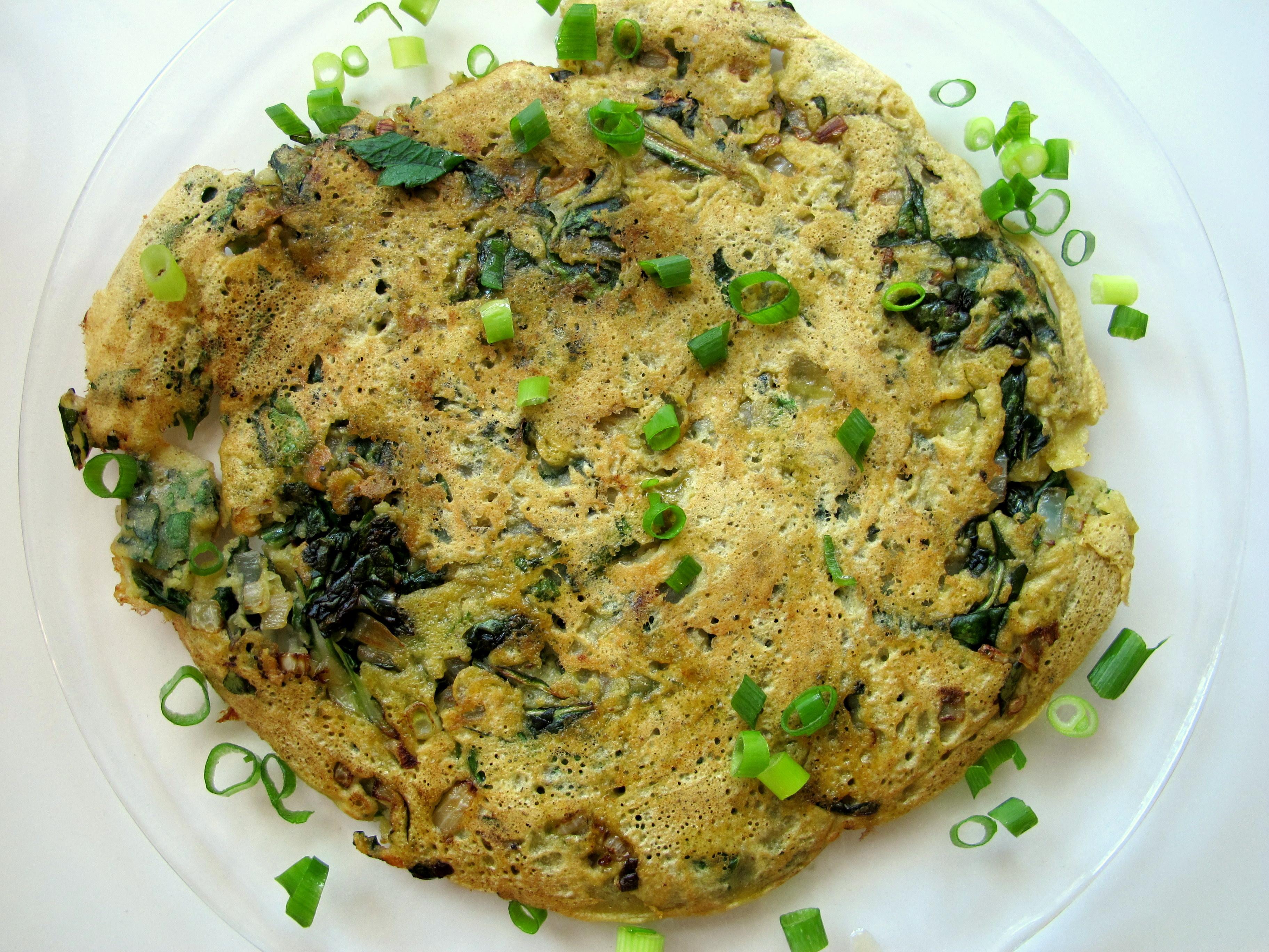 חביתת ירק טבעונית מקמח חומוס