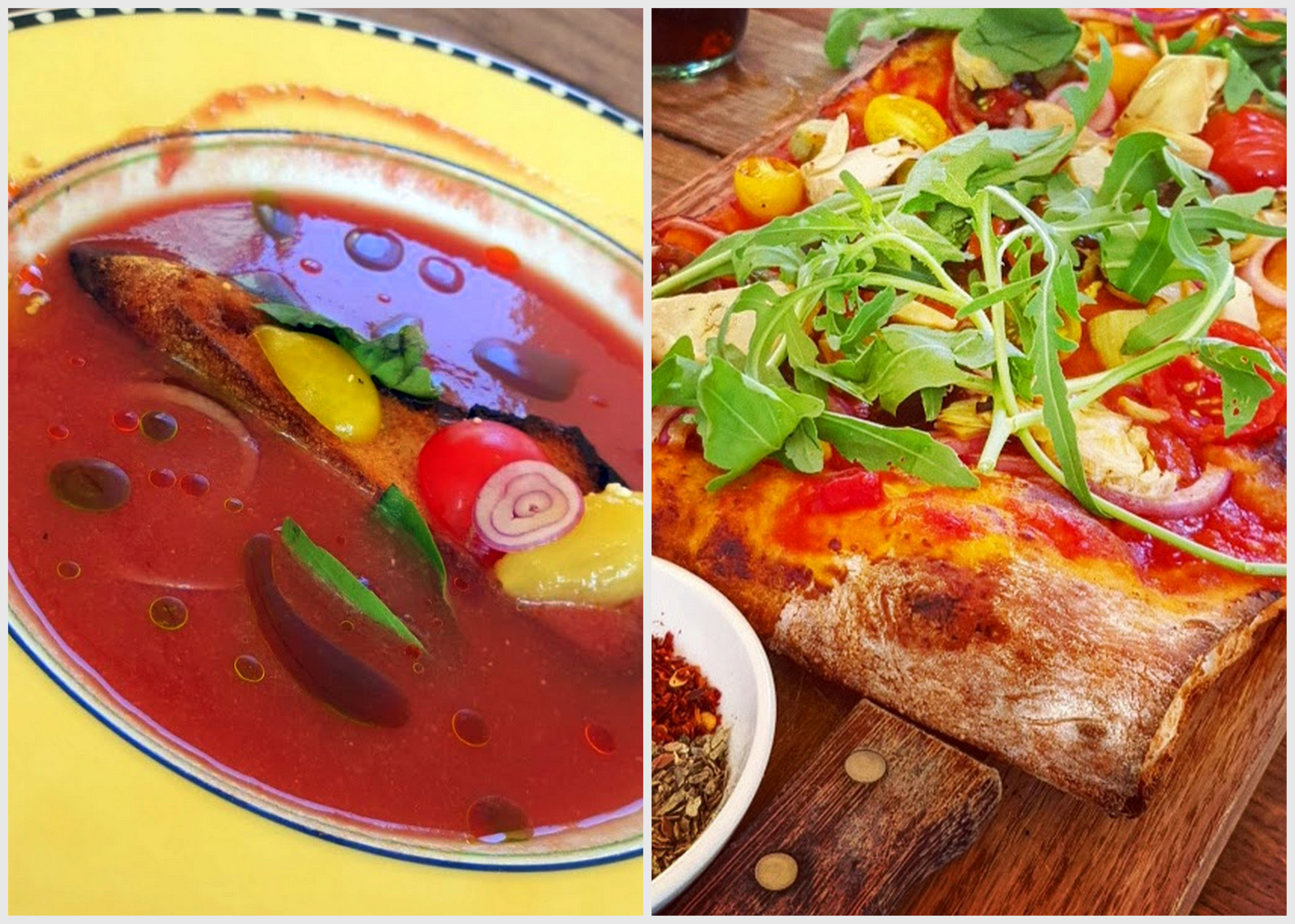 ליטל איטלי במתחם שרונה - אופציות טבעוניות כמו פיצה או מרק